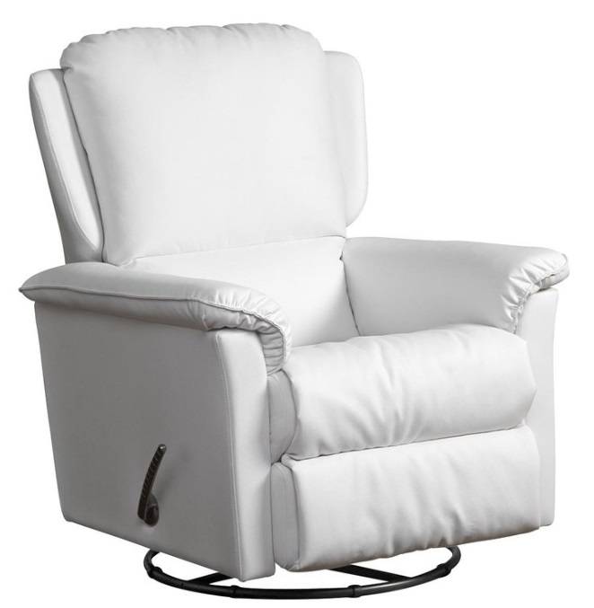 2a04de46d Lepotuoli Saga recliner, valkoinen nahka/kn | Kaluste10