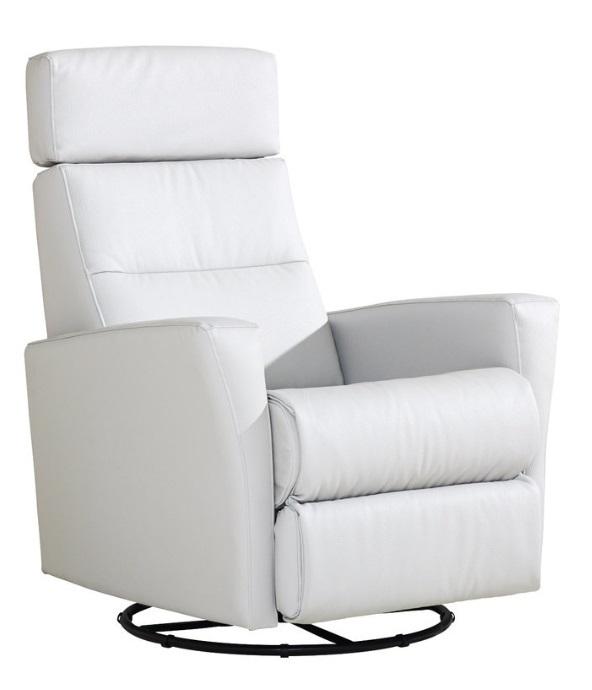 758995462 Mango recliner lepotuoli valkoisella nahka/keinonahka verhoilulla