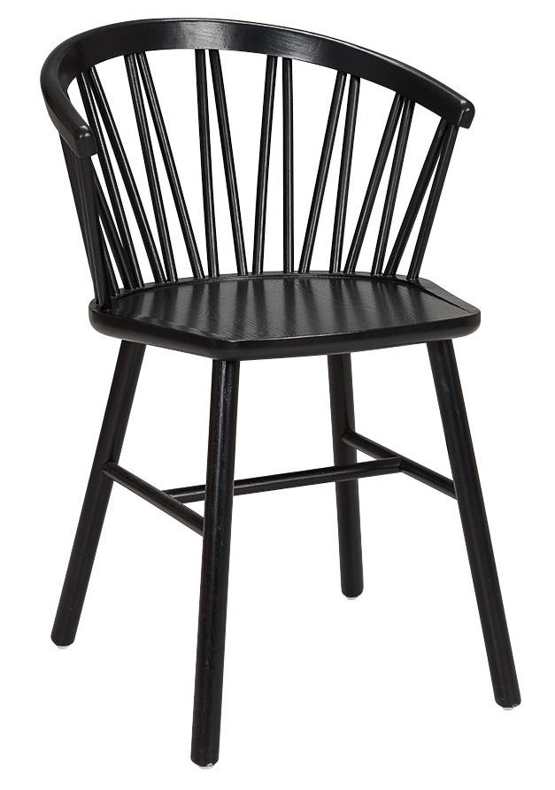 Ruokapöydän tuoli käsinojilla valkolakattu saarni ZigZag Hans K